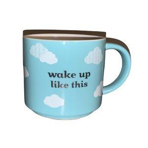 "David's Tea ""Wake Up Like This"" Blue Cloud Mug"